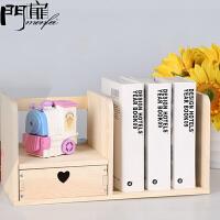 门扉 书架 简约创意多规格木质桌面式儿童玩具架办公室文件物品置物架多功能大容量整理收纳架子