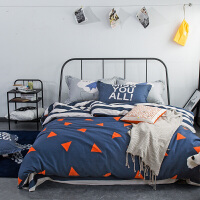 床上纯棉四件套全棉床单被套被单简约田园风1.5m/1.8m米/2.0床