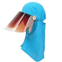 遮脸防晒帽 女夏天太阳帽户外护脖骑电动车遮阳帽子