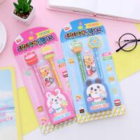 一正卡通铅笔橡皮套装韩国创意文具可爱儿童小学生奖品礼品批发