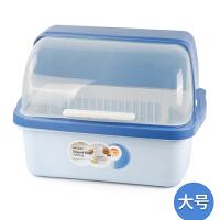 碗柜塑料碗架带盖沥水架餐具盒碗筷收纳盒厨房置物架碗碟架筷子盒抖音同款
