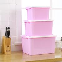 门扉 整理箱 创意日式简约衣物行李收纳箱袜子内衣储物盒家居日用多功能大容量收纳盒(3件套)