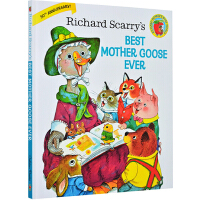 Richard Scarry's Best Mother Goose Ever 最棒的鹅妈妈童谣 金色斯凯瑞 英文原版