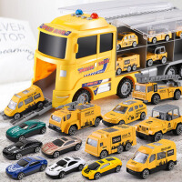 男童小汽车模型套装儿童玩具车合金男孩各类消防车工程0-3岁2小孩