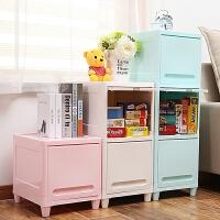 御目 儿童收纳 加厚储物柜宝宝衣服塑料抽屉式整理柜大号儿童衣柜婴儿收纳柜多层柜子