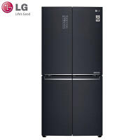 LG F528MC16 家用530L大容量十字四门变频风冷无霜电冰箱 除抑菌模块 循环风 恒温速冻 黑色