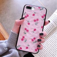 小清新苹果7plus手机壳钻石纹8p抗摔6s网红全包iphone6splus潮
