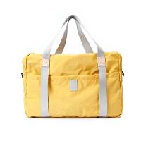 折叠旅行包男女大容量行李包轻便套拉杆韩版短途旅游包斜跨手提包 黄色 号