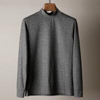 ALOK 超舒适面料 新款男士长袖立领T恤 秋冬时尚百搭男装打底衫 灰色