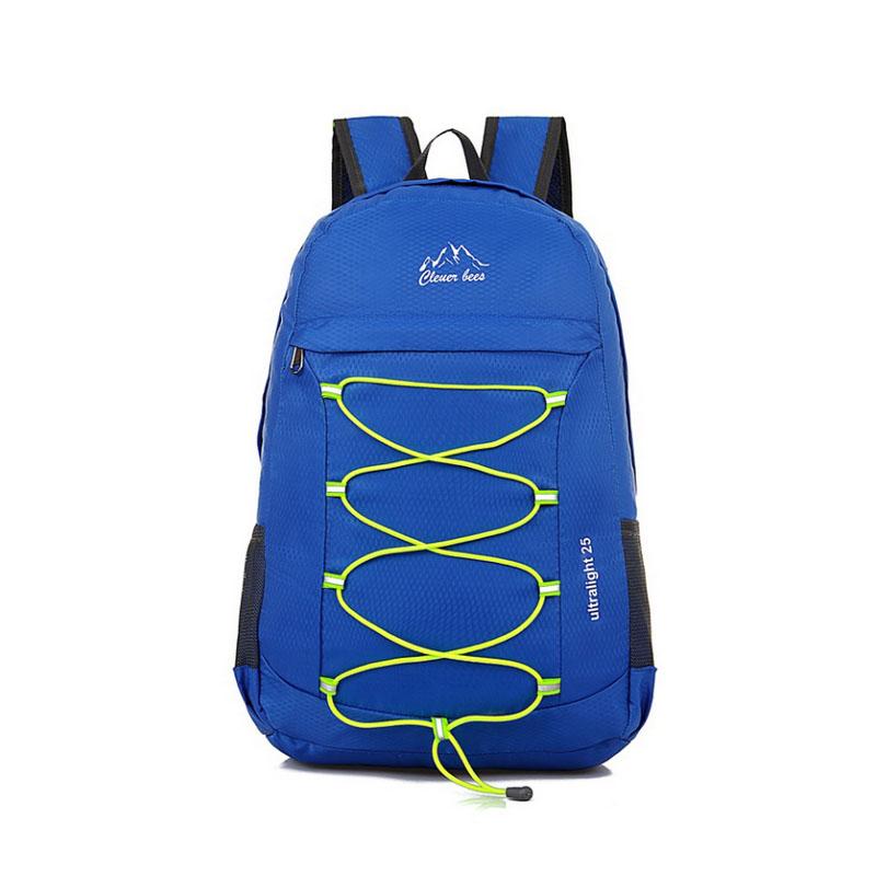 户外男女登山包可折叠双肩包 跑步运动双肩背包防水旅行包