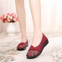 新款老北京布鞋女鞋单鞋平跟中老年鞋老人鞋防滑奶奶鞋平底妈妈鞋