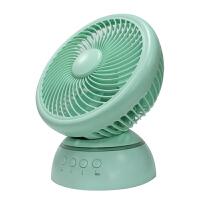台式8寸喷雾风扇摇头小风扇迷你大风力静音办公桌面空气循环电风扇