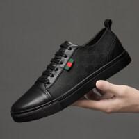 品牌欧美男鞋真皮格子布休闲鞋商务皮鞋男英伦范板鞋透气潮鞋