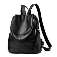 女士双肩包韩版时尚休闲百搭pu软背包个性书包包