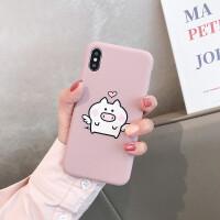 苹果7plus手机壳iphone8套硅胶6s女8P新款6sp六可爱卡通抹茶绿简约ins网红猪猪小猪少