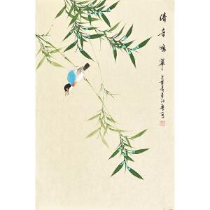 河南美术家协会会员许鲁四尺三开花鸟画gh04844