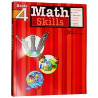 Flash Kids数学技能4年级 英文原版 Math Skills Grade 4美国小学英语教辅教材Harcourt