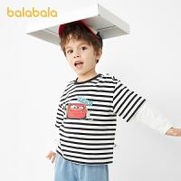 【2件7.5折:67.4】巴拉巴拉儿童T恤男童长袖宝宝春装2021新款童装