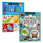 【中商原版】初学字母与单词贴纸书2册 英文原版 My First Alphabet/Words Sticker Boo