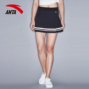 安踏女装网球裙2017夏季新款女百褶裙运动网球裙百搭舒适16727205