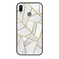 线条几何联想Z5手机壳个性简约时尚硅胶防摔联想Z5保护套男女款潮 Z5 白色几何