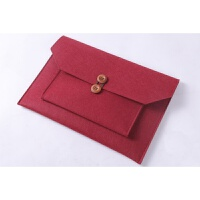 羊毛毡笔记本电脑内胆包 Macbook pro air13.3寸小米12.5pro配件 新款 【酒红色】