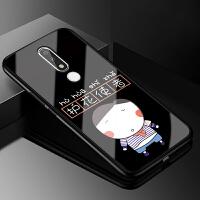 诺基亚x5手机壳防摔TA-1109S玻璃保护套nokiax5硅胶复古风潮牌女款全包硬壳男