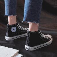 潮鞋新款1970s高帮帆布鞋女韩版百搭ulzzang2019春夏学生布鞋板鞋 35 女款
