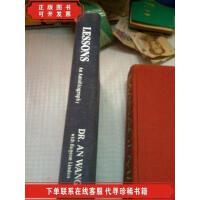 [二手9成新]lessons an autobiography 英文原版 王安传记 DR.an