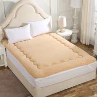 榻榻米床垫羊羔绒双人防滑床褥子学生宿舍单人可折叠加厚垫被