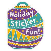 Christmas Holiday Sticker Fun 圣诞彩球形状 节日贴纸活动书