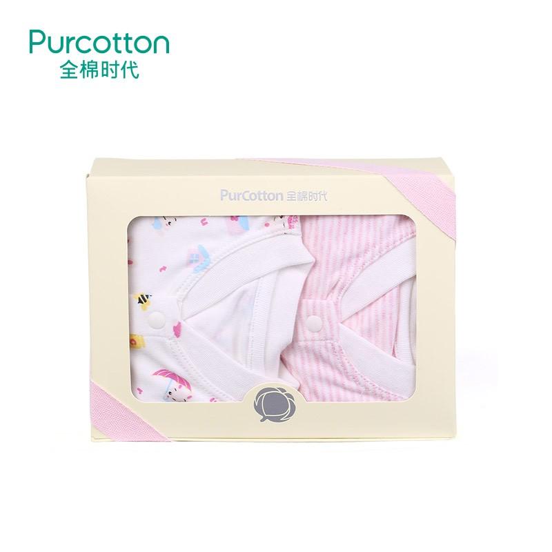全棉时代  秋冬(运动小兔+粉色条纹)针织婴幼儿妙妙衣66/442件装