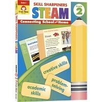 Evan-Moor Skill Sharpeners STEAM 技能铅笔刀STEAM练习册 小学二年级 美国加州教辅