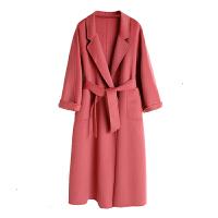 手工双面羊绒大衣女2018新款中长款定制版高端秋冬季宽松毛呢外套