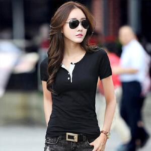 纯色短袖t恤女宽松学生2017夏季韩版纯棉半袖女t恤夏装女上衣小衫WK0603