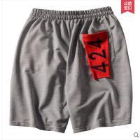 街头嘻哈跑步运动五分裤短裤男潮牌424贴布宽松休闲中裤 可礼品卡支付