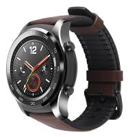 适用华为手表watch2 pro智能运动手表2代同款表带商务皮革运动款 华为新款手表GT 荣耀手表m 华为2代PRO表