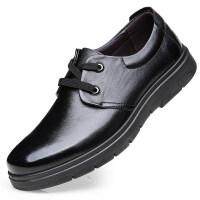 夏季头层牛皮真皮男鞋皮鞋男中老年爸爸商务休闲鞋黑色正装上班工作鞋