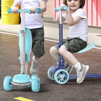 滑板��和�2-3-6-8-10�q小孩踏板三合一女孩折�B�����文_滑滑溜溜