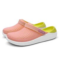 2019夏季新款透气包头鸟巢拖鞋洞洞鞋女学生沙滩鞋海边凉拖鞋外穿