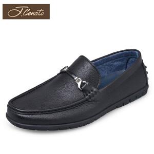 宾度男鞋男士休闲鞋鹿皮单鞋套脚鞋男青年休闲皮鞋夏季爸爸鞋平跟