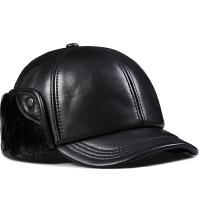 冬季男帽中老年人户外冬天老人保暖护耳老头真皮帽子