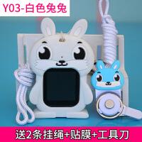 小天才手表挂套y03电话手表套挂脖z2y可爱男女孩z3硅胶挂保护套