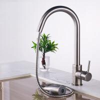 抽拉式水龙头全铜厨房龙头冷热水洗菜盆厨房水槽龙头可伸缩