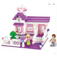 小鲁班积木女孩玩具 甜蜜小屋儿童拼接玩具拼装积木5岁以上