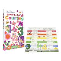 Pull-The-Tab Counting 抽拉英语启蒙纸板书 儿童智力开发加减法 英文原版图书