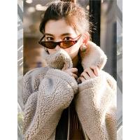 七格格毛绒外套冬装女2018新款中长款韩版仿羊羔毛加厚皮草大衣潮