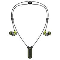 /蓝牙无线磁吸运动耳机 颈挂脖耳塞式防水跑步自带内存MP3一体机苹果安卓适用重低音超长待机 I2 浅绿色(赠送专属i2