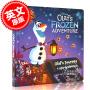 现货 雪宝的冰雪大冒险 冰雪奇缘同名衍生短片 阿伦黛尔城堡 圣诞节 LED纸板书 儿童绘本 英文原版 Olaf's Frozen Adventure