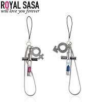 皇家莎莎RoyalSaSa卡通沙漏吊坠手机链DIY钥匙挂件包包挂饰一对 时尚饰品礼物HS1407SP440